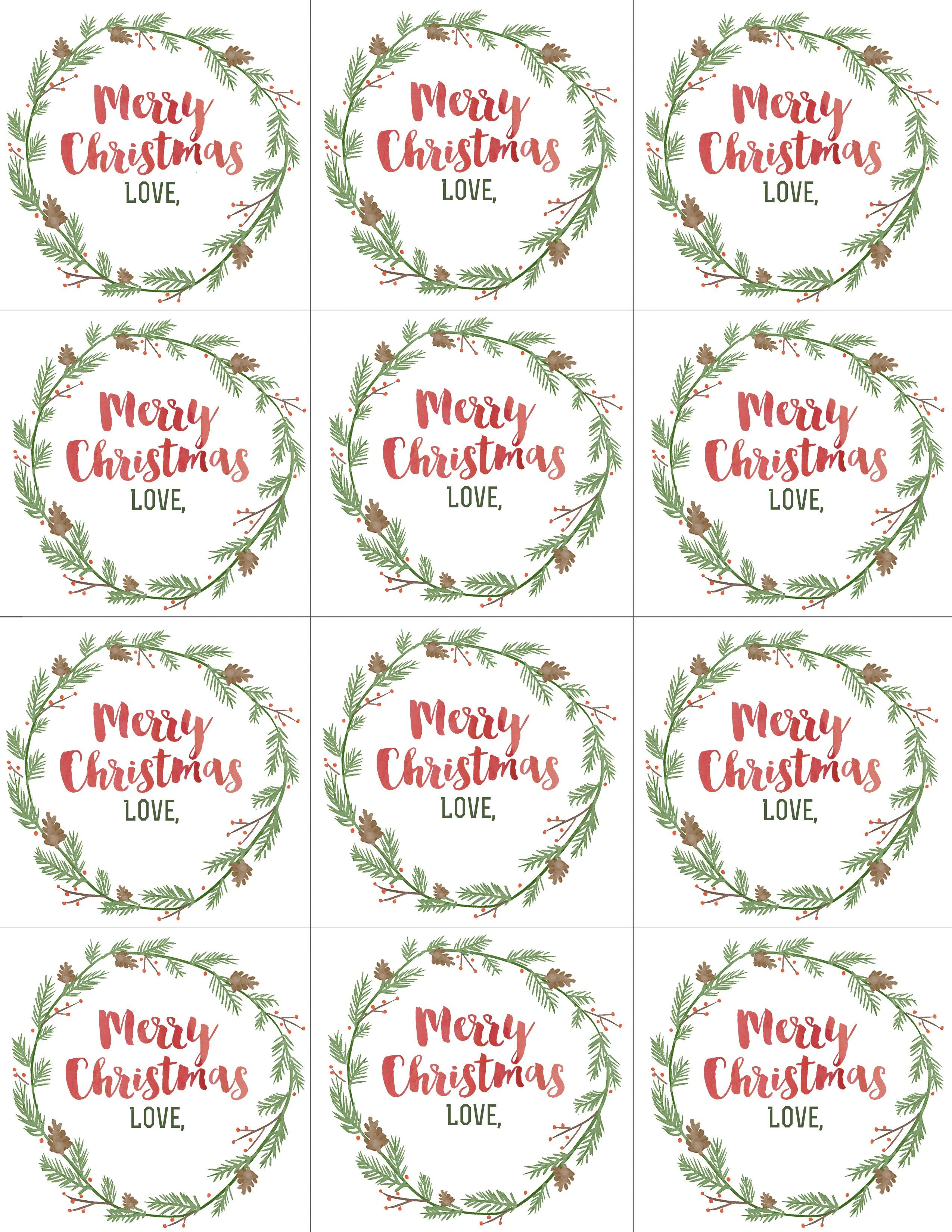Hand Painted Gift Tags Free Printable | Gift Wrap | Christmas Gift - Diy Gift Tags Free Printable