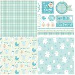 Handmade For Babies – Free Papers | Printable Papers | Digital Paper   Free Printable Scrapbook Stuff