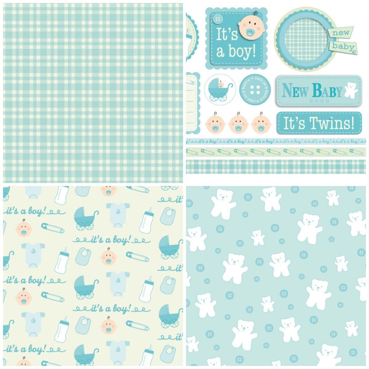 Handmade For Babies – Free Papers | Printable Papers | Digital Paper - Free Printable Scrapbook Stuff