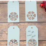 Handmade Snowflake Christmas Gift Tags + Free Template   Diy Christmas Gift Tags Free Printable