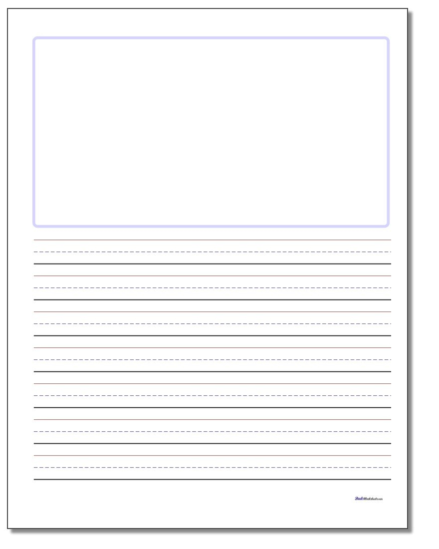 Handwriting Paper - Blank Handwriting Worksheets Printable Free