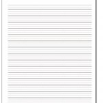 Handwriting Paper   Blank Handwriting Worksheets Printable Free