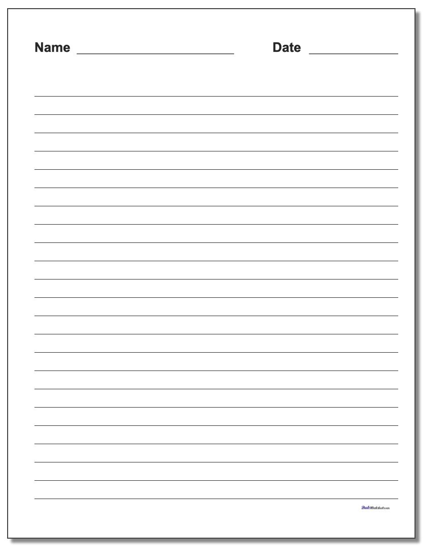Handwriting Paper - Free Printable Notebook Paper