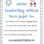 Handwriting Without Tears Writing Paper   Handwriting Without Tears Worksheets Free Printable