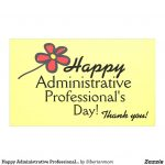 Happy Administrative Professional's Day Banner | Zazzle   Administrative Professionals Cards Printable Free