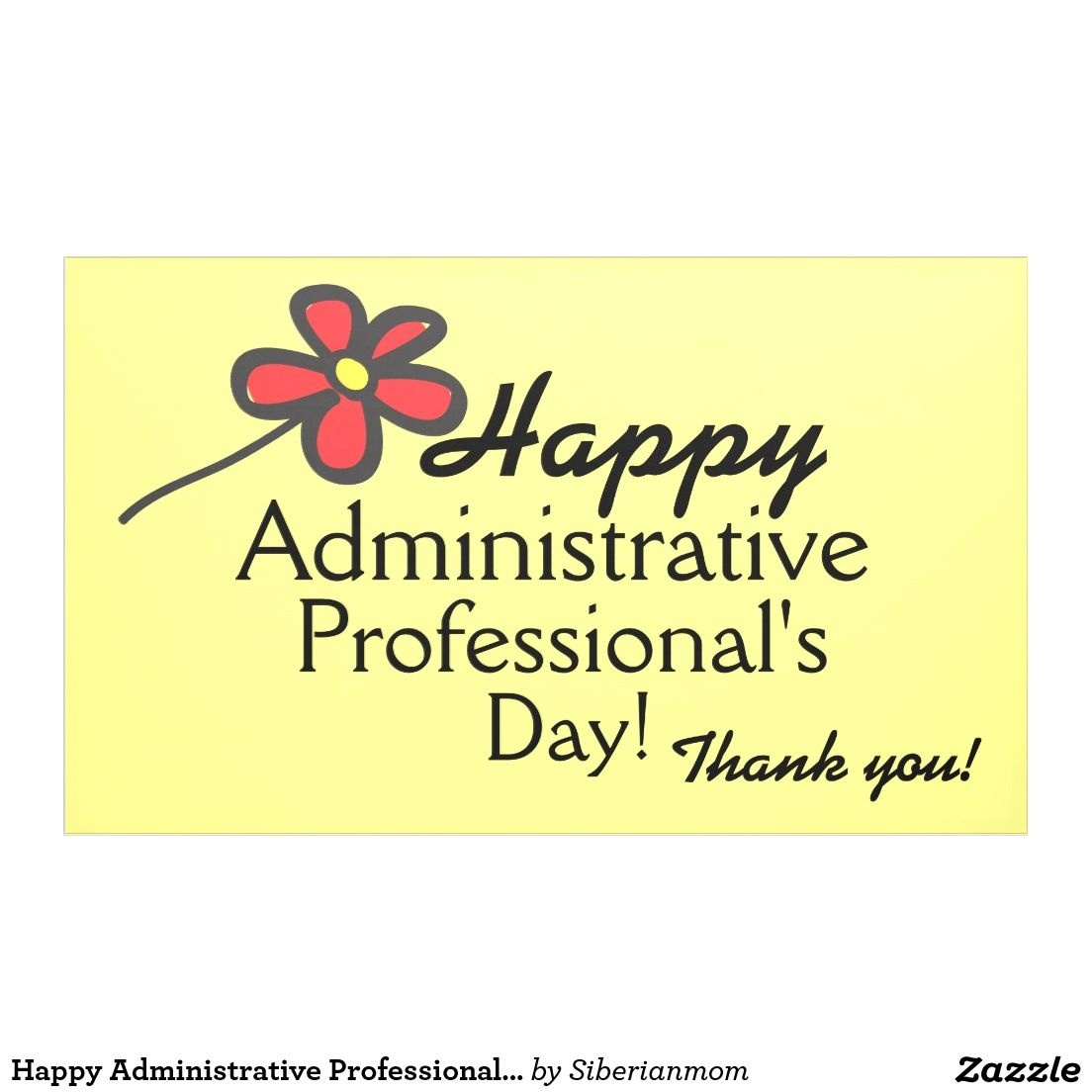 Happy Administrative Professional's Day Banner | Zazzle - Administrative Professionals Cards Printable Free