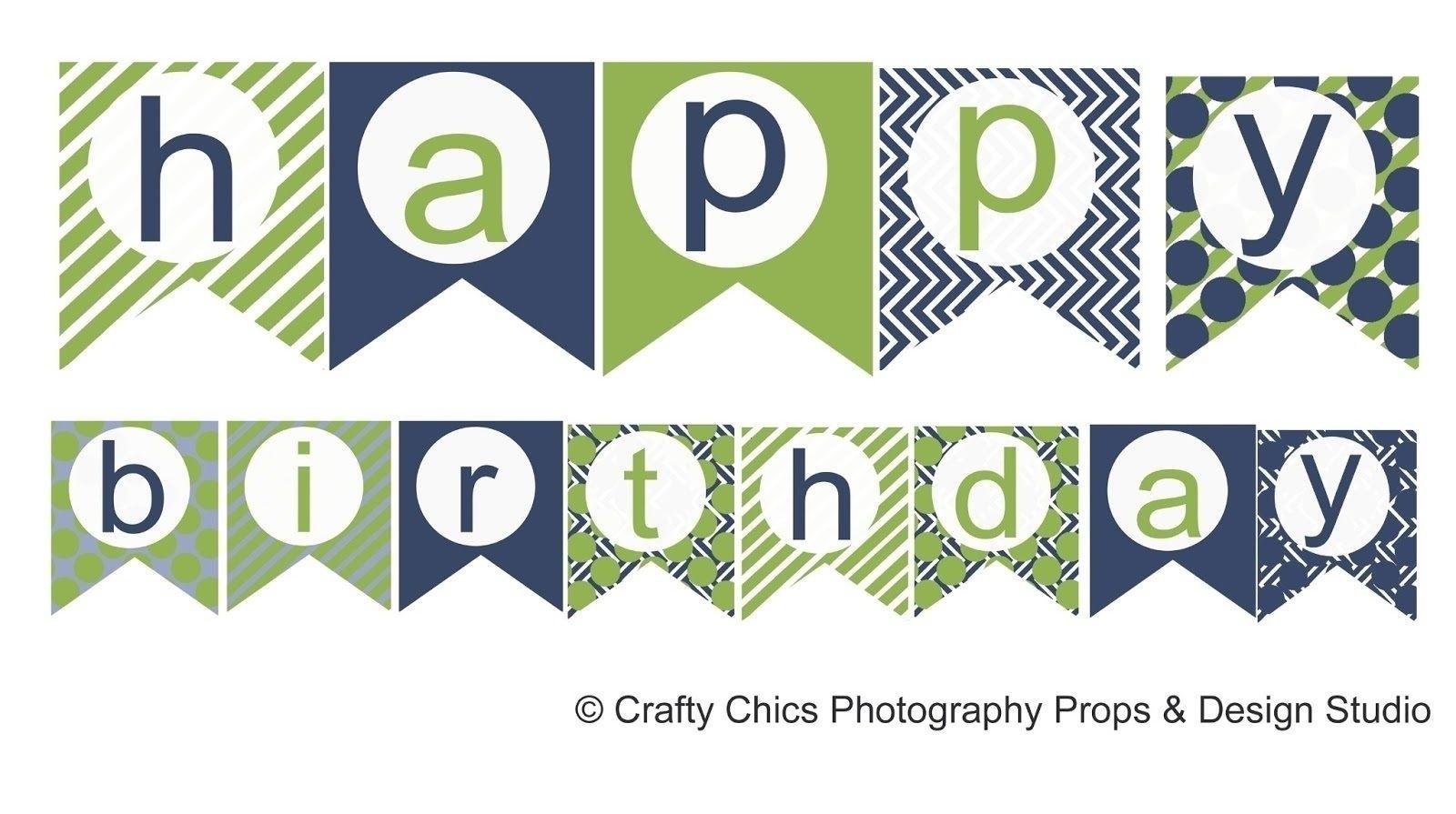 Happy Birthday Banner Template Printable   World Of Label - Birthday Banner Templates Free Printable
