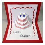 Happy Birthday Cake   Pop Up Card Tutorial   Youtube   Free Printable Birthday Pop Up Card Templates