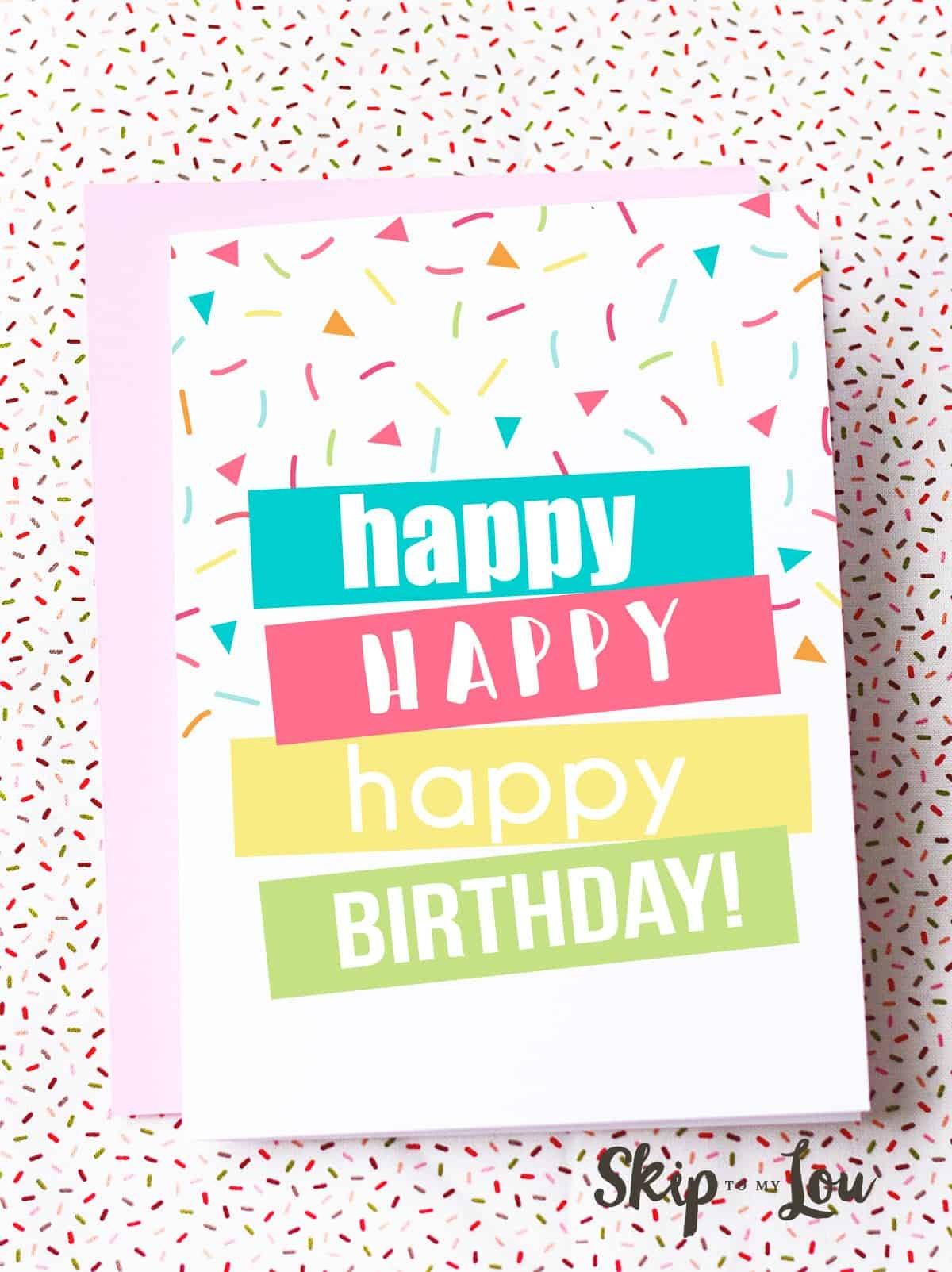 Happy Birthday Cards Printable - Tutlin.psstech.co - Free Printable Happy Birthday Cards