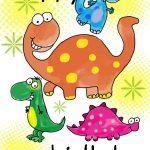 Happy Birthday Dinosaurs   Free Printable Birthday Card | Greetings   Free Printable Kids Birthday Cards Boys