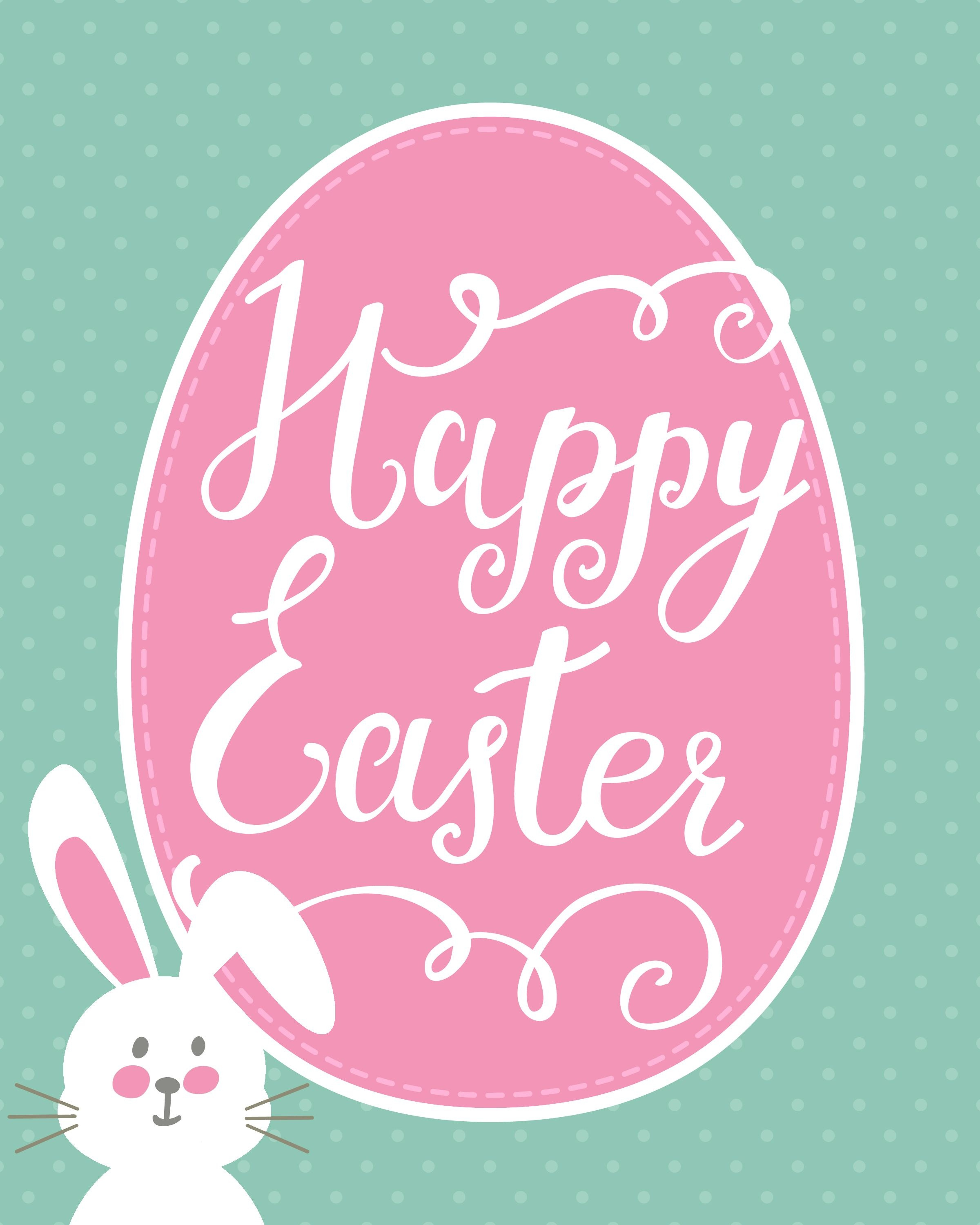 Happy Easter Bunny Printable | Holidays - Easter | Happy Easter - Printable Easter Greeting Cards Free