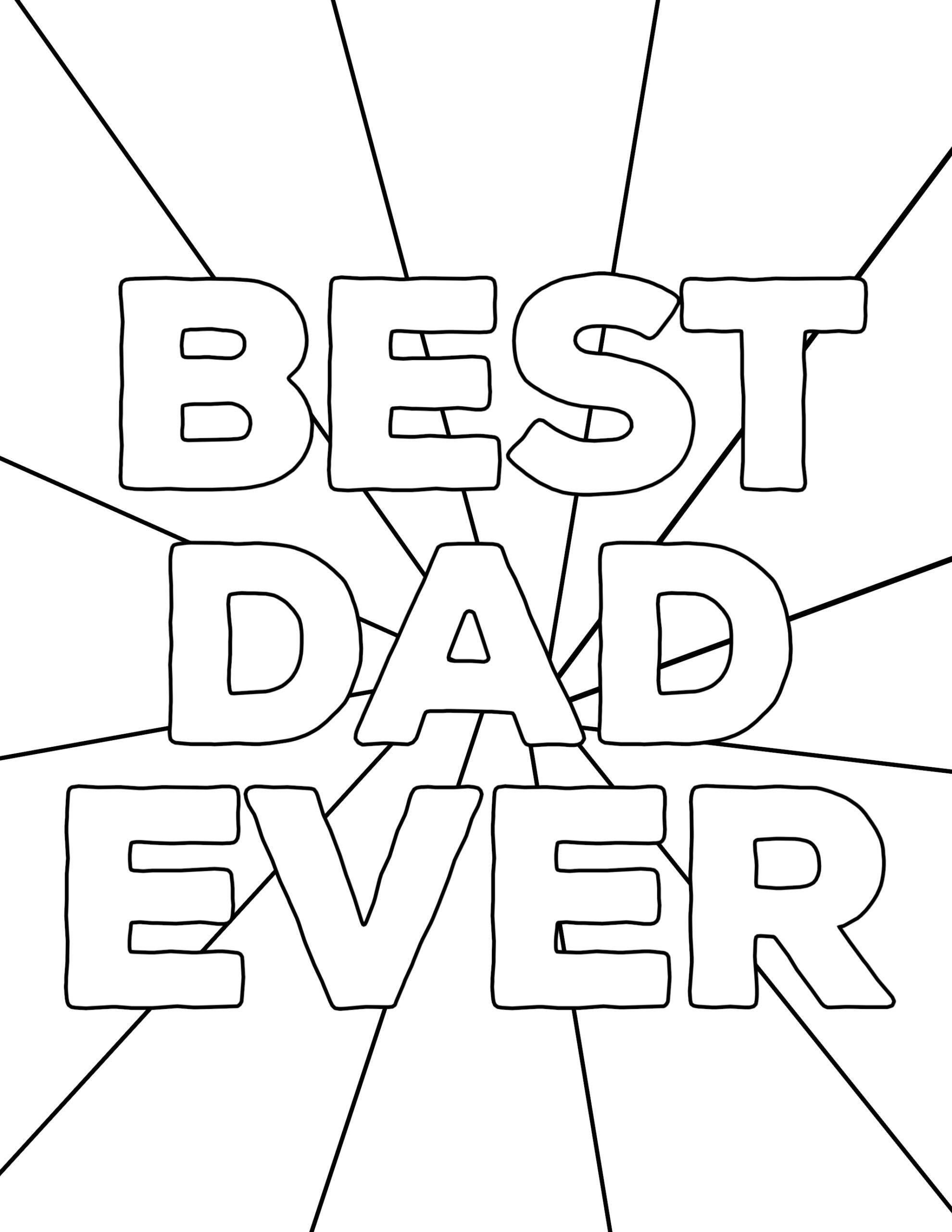 Happy Father's Day Coloring Pages Free Printables - Paper Trail Design - Free Printable Fathers Day Coloring Pages For Grandpa