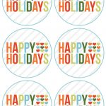 Happy Holidays Free Printable (Rejoin Happy Holidays And Merry   Free Printable Happy Holidays Gift Tags