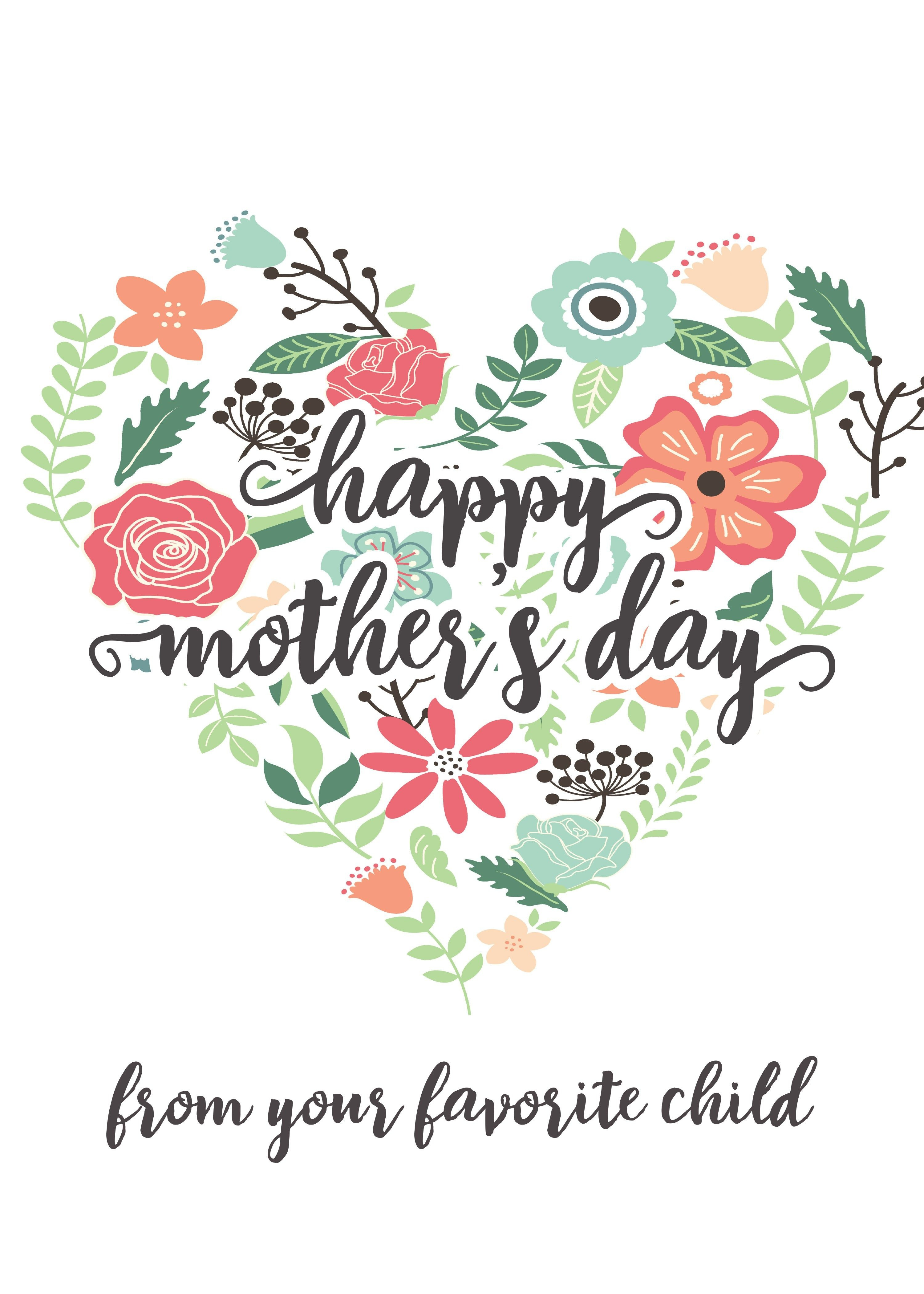 Happy Mothers Day Messages Free Printable Mothers Day Cards - Free Printable Mothers Day Cards To My Wife