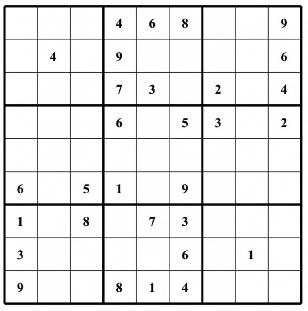 Hard Puzzle | Free Sudoku Puzzles | Printable Sudoku 4 Per Page - Free Printable Sudoku 4 Per Page