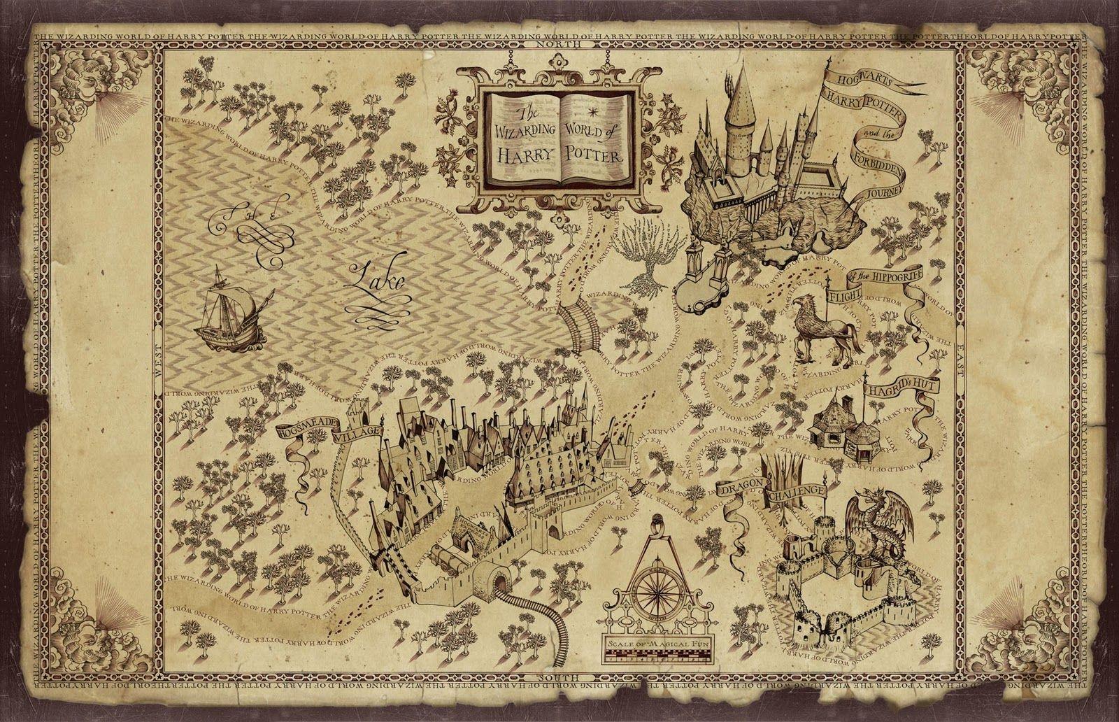 Harry Potter Map | Treasure Map Inspiration | Harry Potter - Free Printable Marauders Map