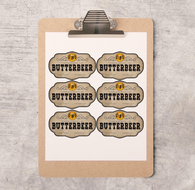 Harry Potter Party/bachelorette Printable's | Hp⚡ | Harry Potter - Free Printable Butterbeer Labels