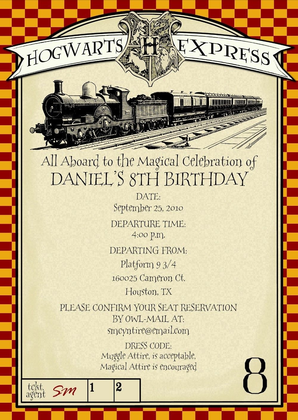 Harry Potter Party Invitations Free Printable | Things I Want - Harry Potter Birthday Invitations Free Printable