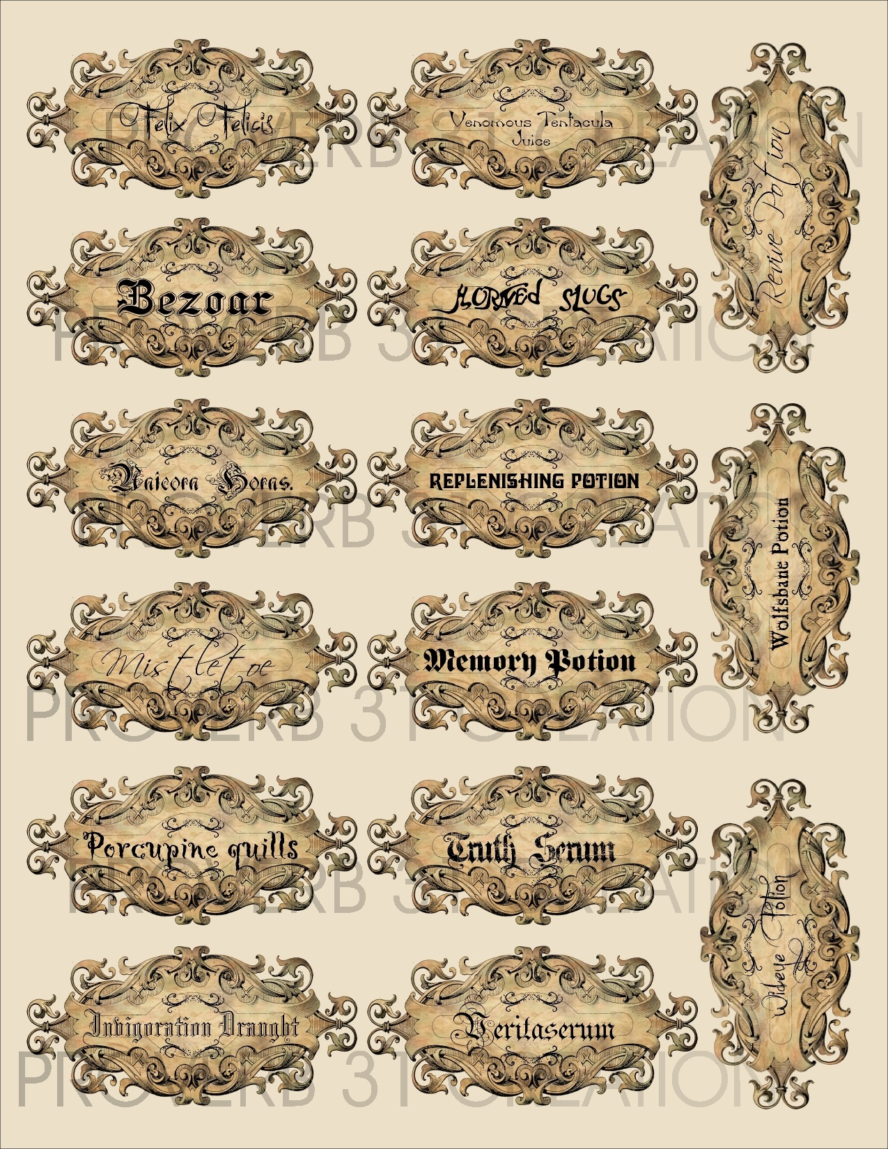Harry Potter Party – Water Walker Events – Design – Planning - Free Printable Butterbeer Labels