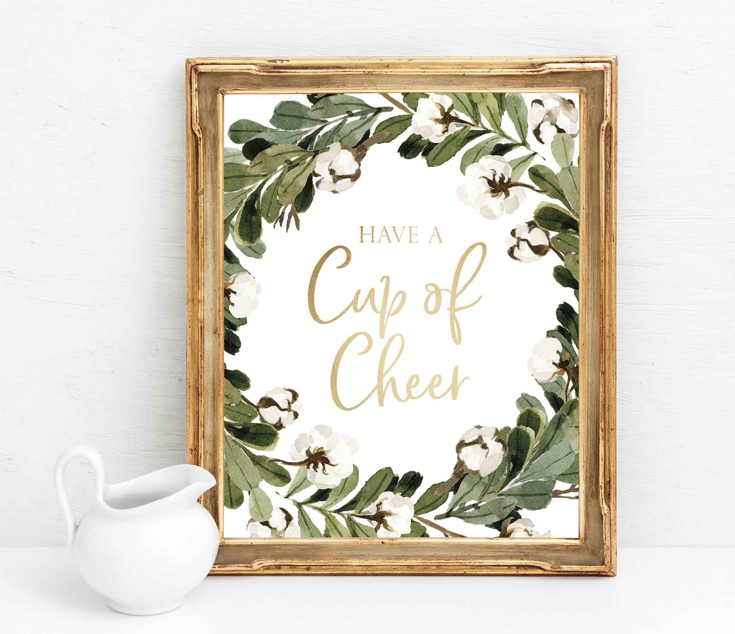 Have A Cup Of Cheer Printable Christmas Party Bar Sign | Etsy - Free Printable Christmas Party Signs