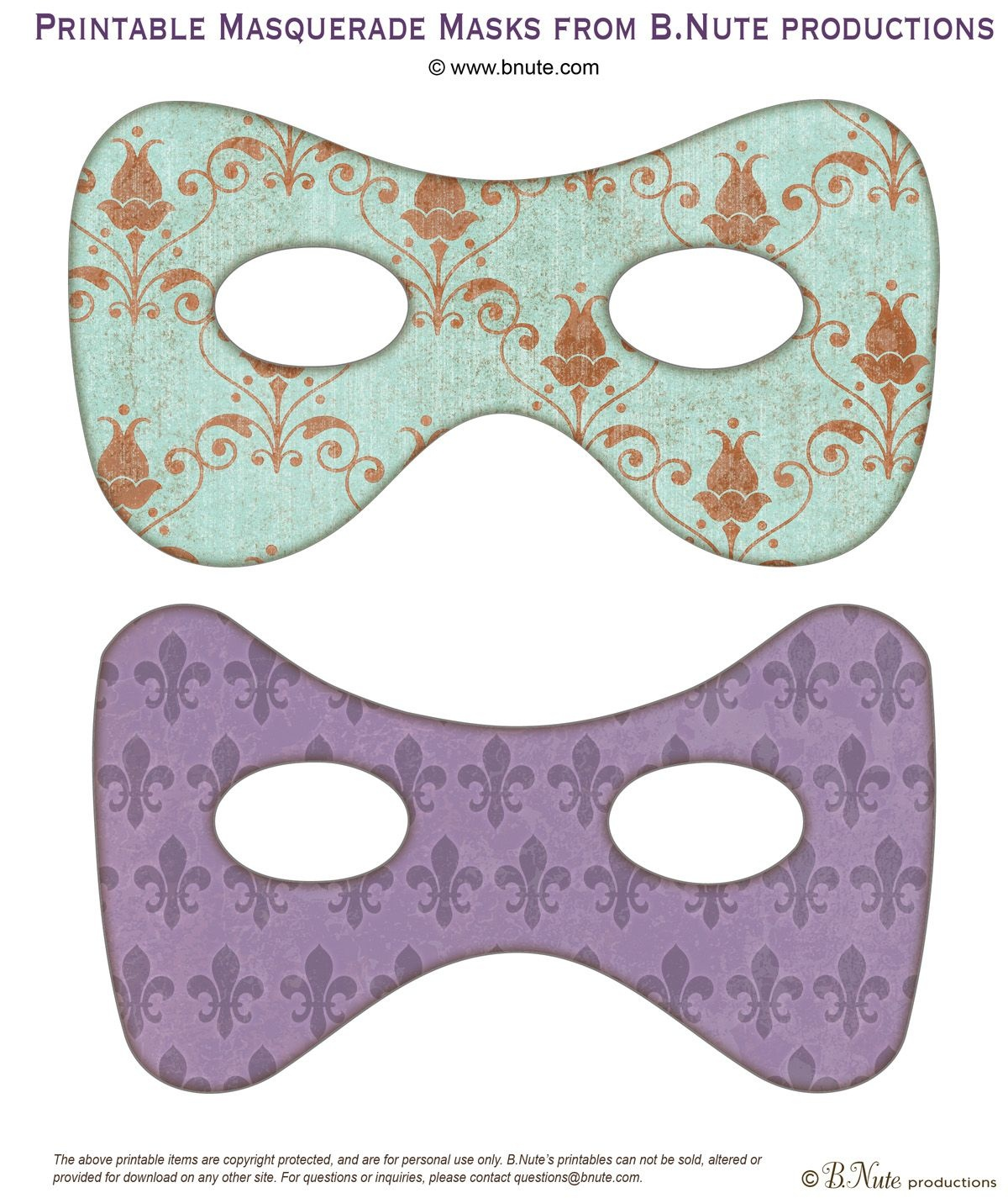 Have Your Guests Come In Masks! | Free Printable Masquerade Masks. I - Free Printable Masquerade Masks