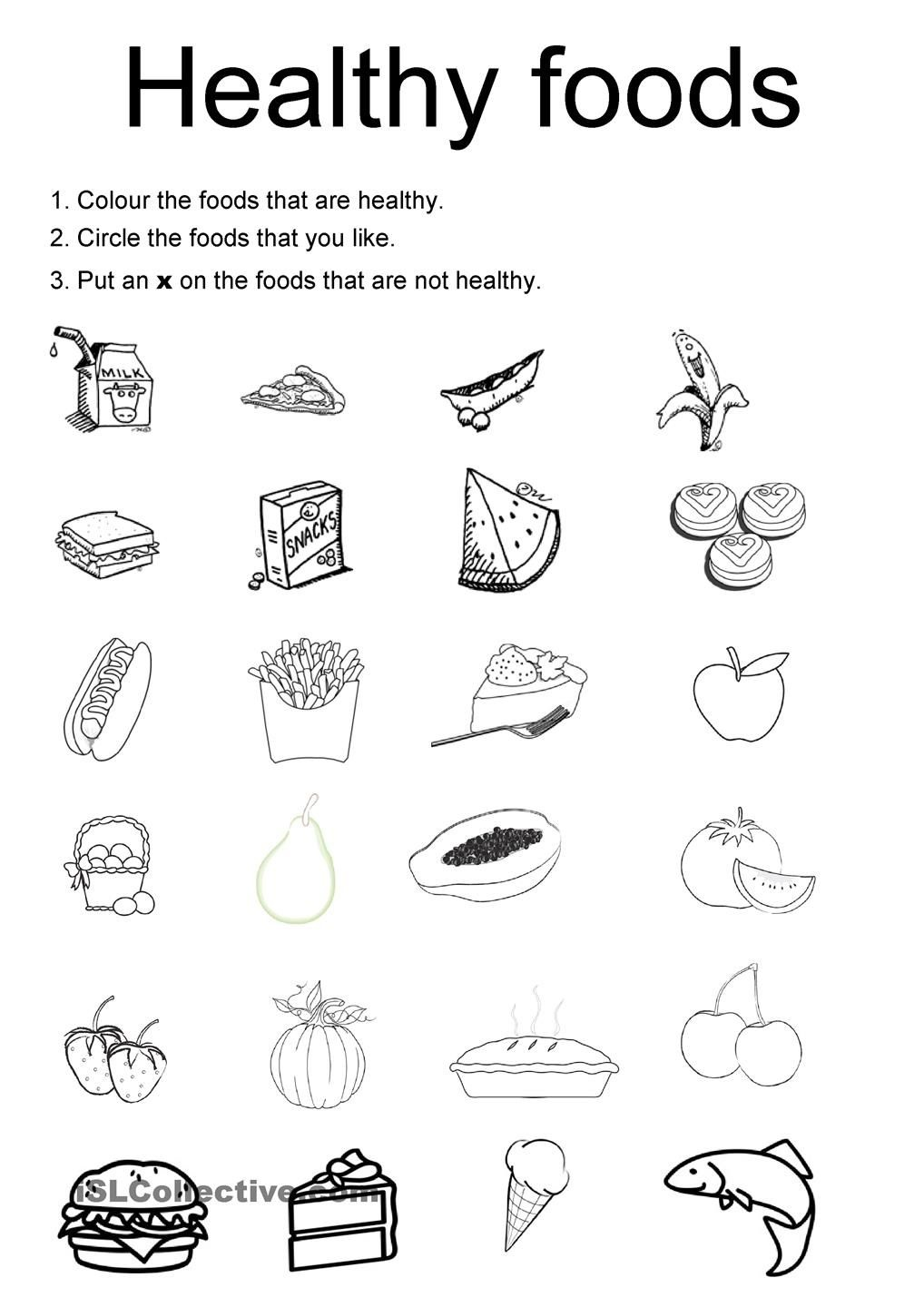 Healthy Foods | Projects To Try | Kids Nutrition, Healthy Meals For - Free Printable Healthy Eating Worksheets