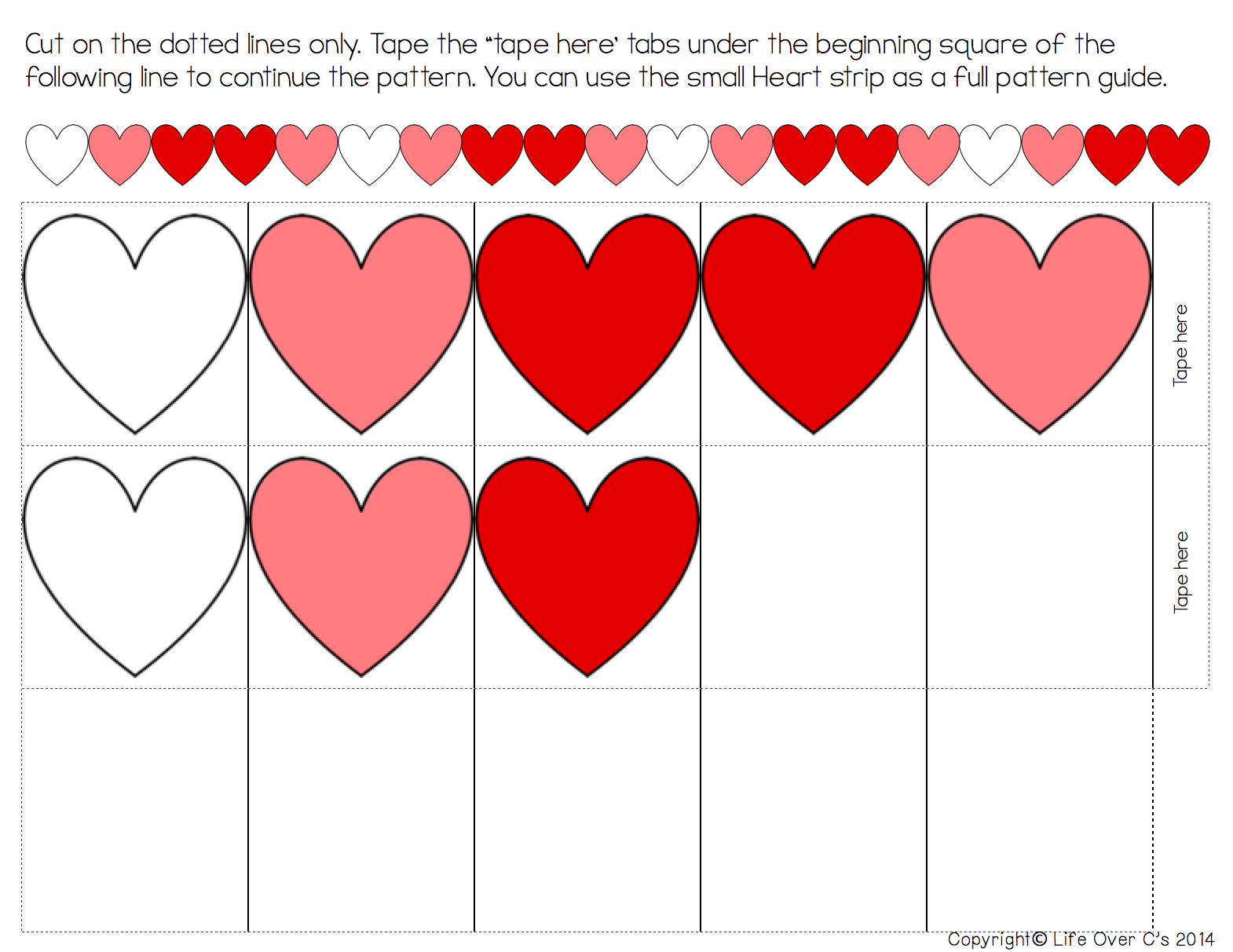 Heart Pattern Free Printable For Valentine's Day - Free Printable Valentine Heart Patterns
