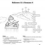 Hebrews 11 Saving Faith Sunday School Crossword Puzzles: Sharefaith   Free Printable Sunday School Crossword Puzzles