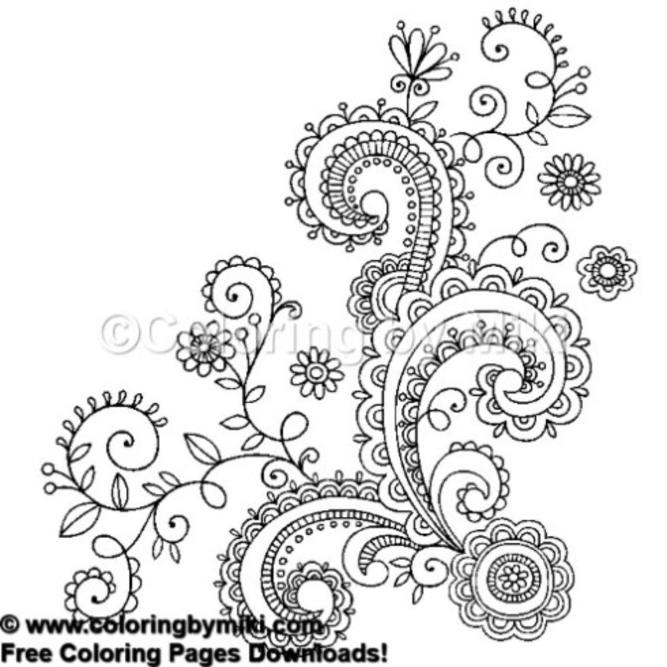 Henna Tattoo Design Coloring Page #653 | Boho / Tribal - Free - Free Printable Henna Tattoo Designs