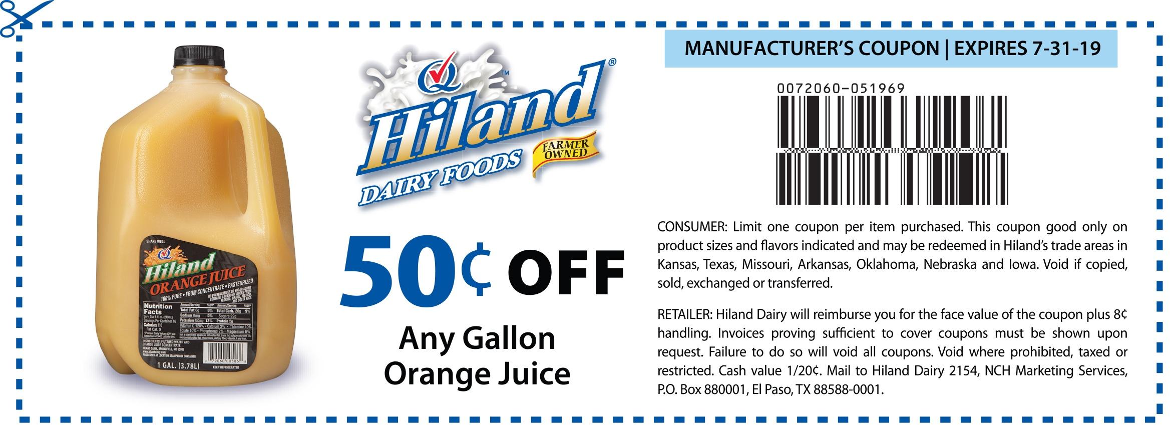 Hiland Dairy | Coupons Print - Free Milk Coupons Printable