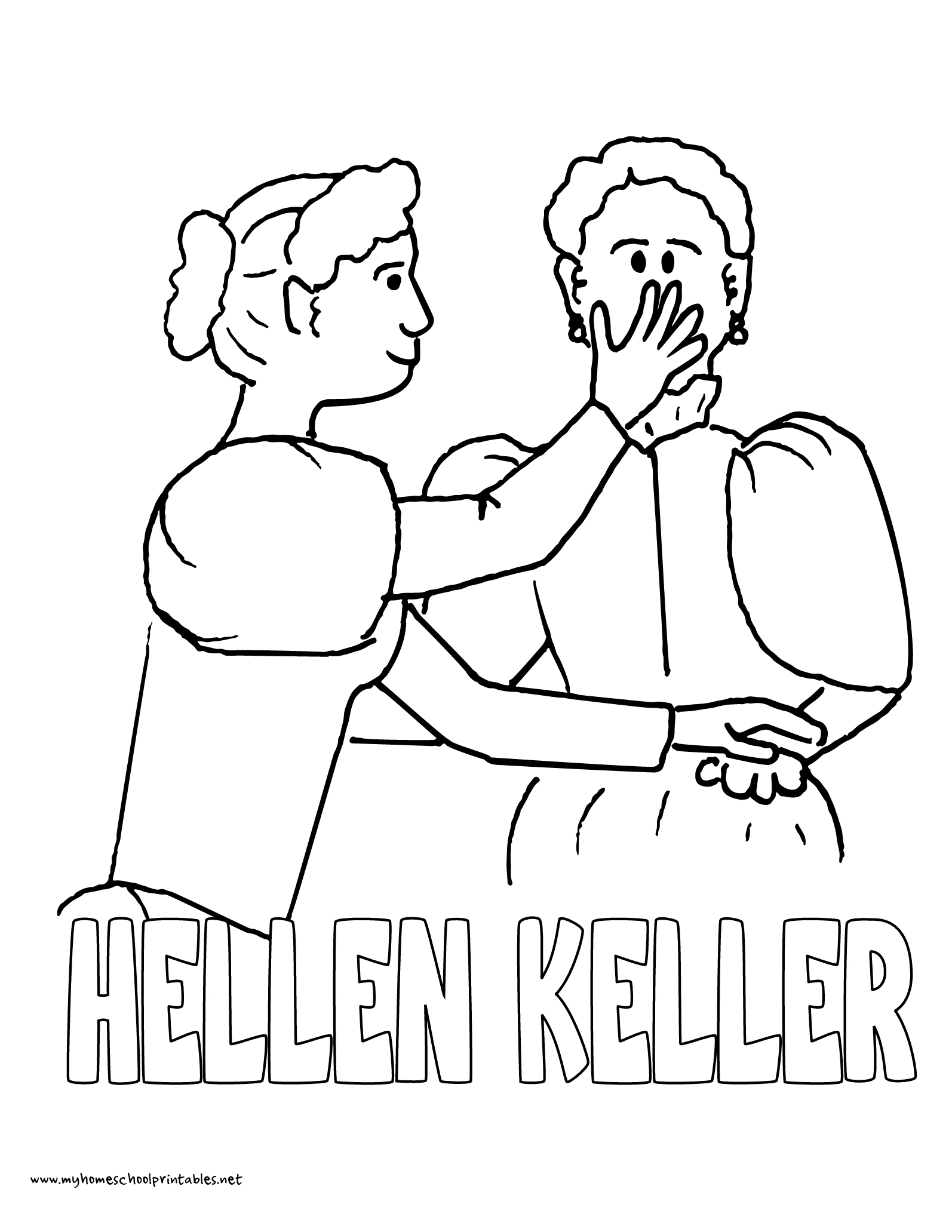 History Coloring Pages – Volume 4   Mystery Of History 4   Coloring - Free Printable Pictures Of Helen Keller