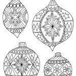 Holiday Coloring Pages   Free Printable Christmas Tree Ornaments Coloring Pages