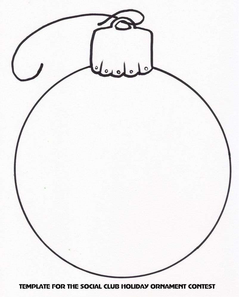 Holiday Ornament Template | Christmas Templates & Printables - Free Printable Felt Christmas Ornament Patterns