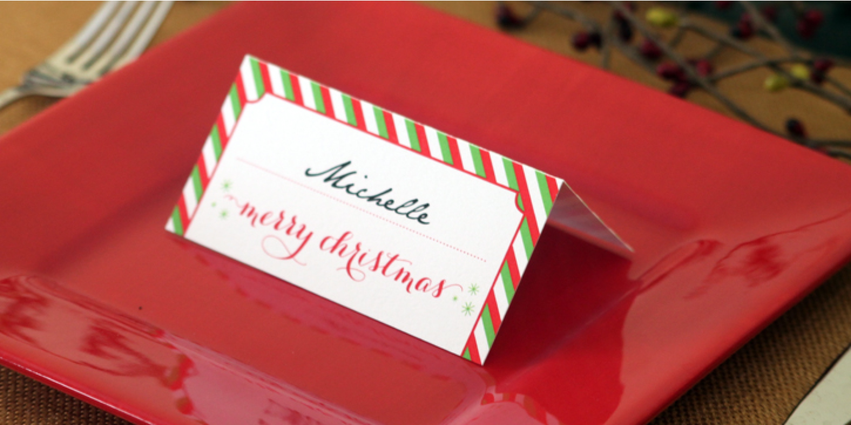 Holiday Place Card Diy Printable - Free Printable Place Card Templates Christmas