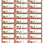Holiday Return Address Labels Template Word – Tenak   Free Printable Return Address Labels