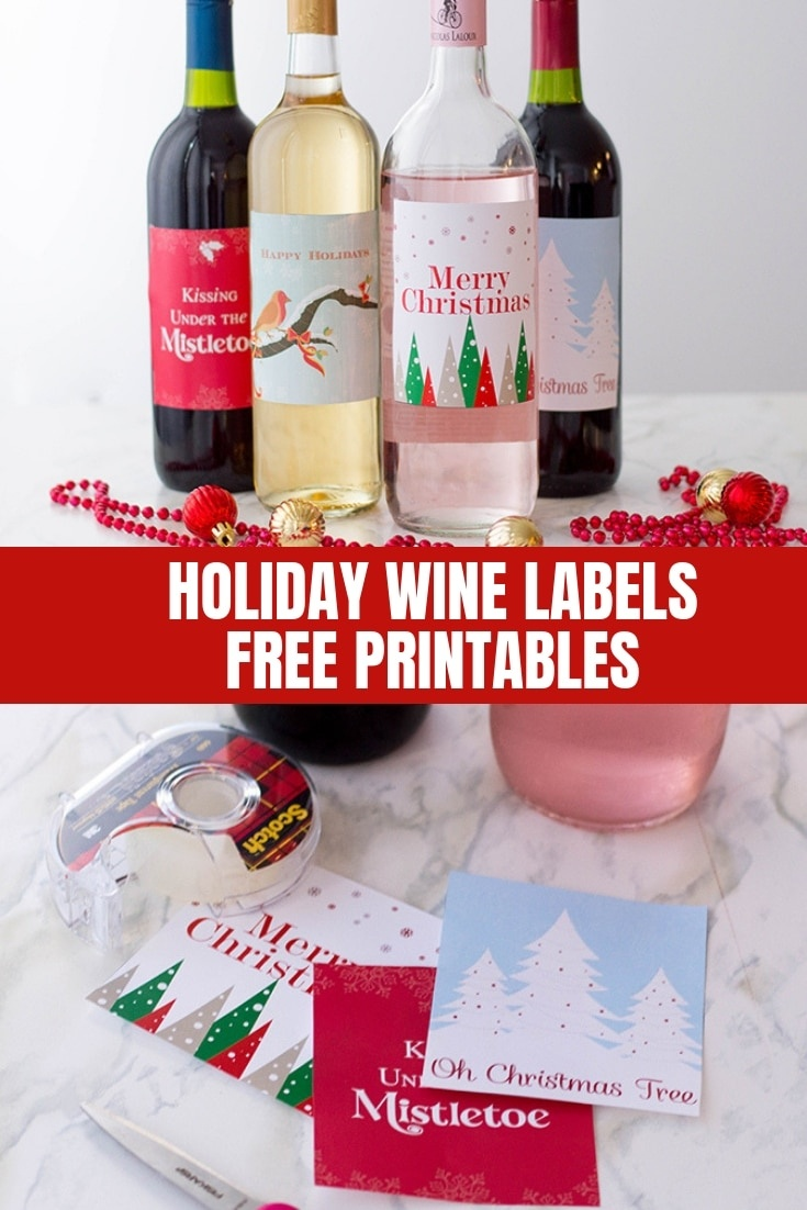 Holiday Wine Labels (Free Printables) - Onion Rings & Things - Free Printable Wine Labels With Photo