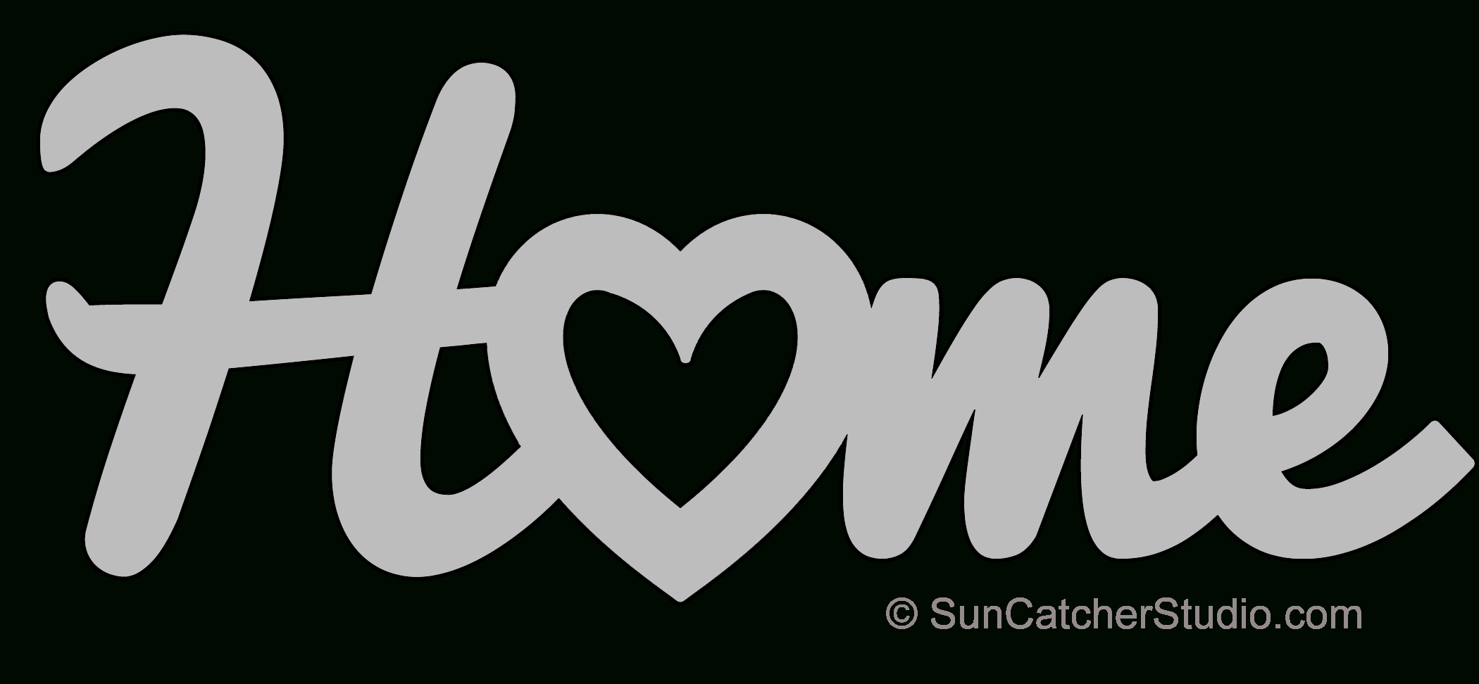 Home Heart – Pattern, Template, Stencil, Printable Word Art Design - Scroll Saw Patterns Free Printable