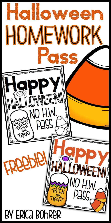 Homework Pass Halloween Printable – Festival Collections - Free Printable Halloween Homework Pass
