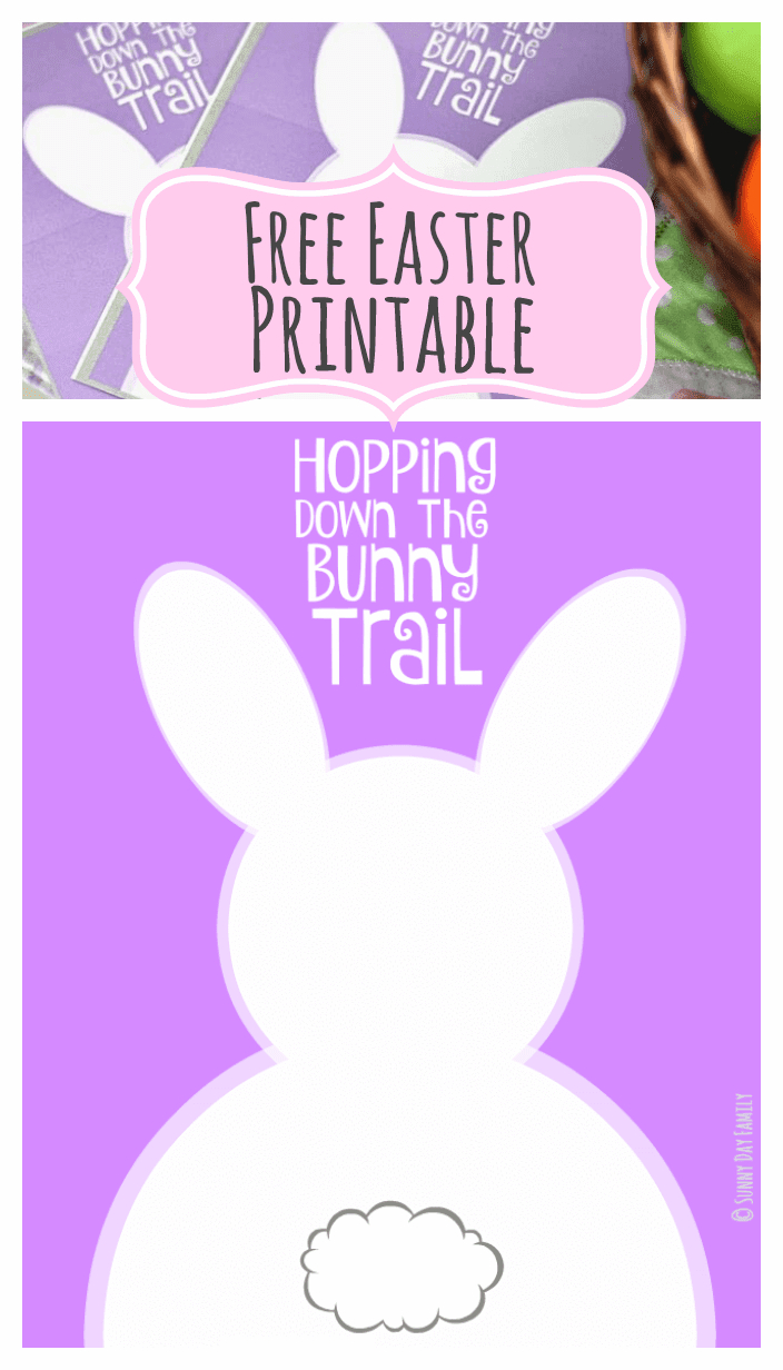 Hopping Down The Bunny Trail: Free Easter Printables In Two Sizes - Free Printable Easter Decorations