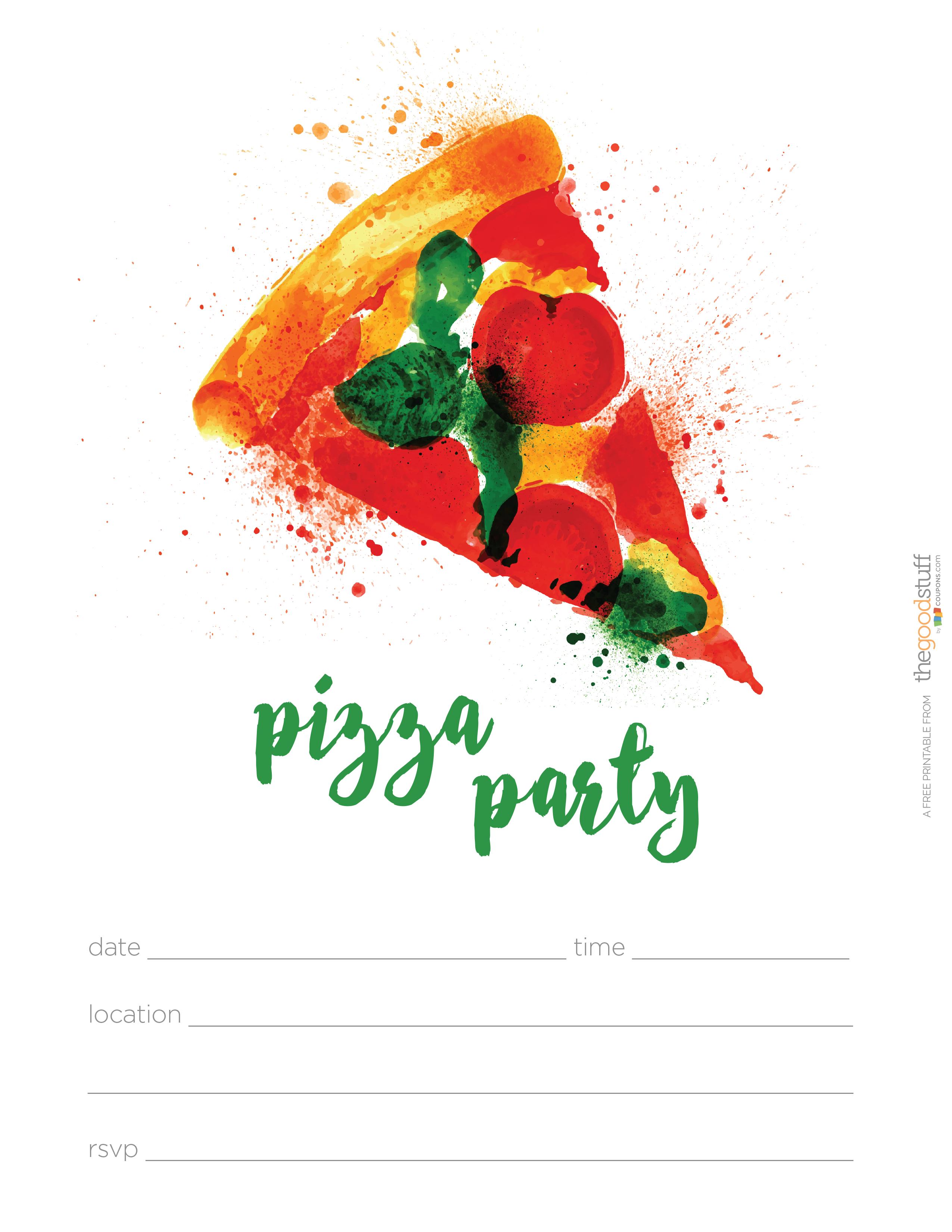 Hostess Helpers: Free Pizza Party Printables | Tea Party Birthday - Free Printable Italian Dinner Invitations