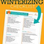 Household Winterizing Checklist | Printables | Home Maintenance   Free Printable Winterization Stickers