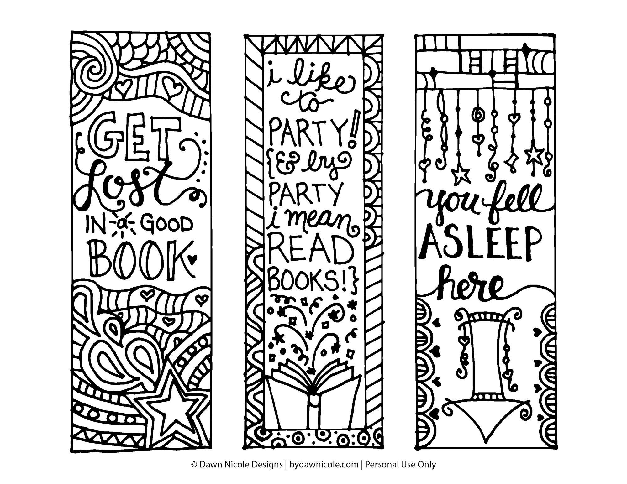 How I Turned My Students Into Readers | Projects To Try | Free Adult - Free Printable Bookmarks To Color