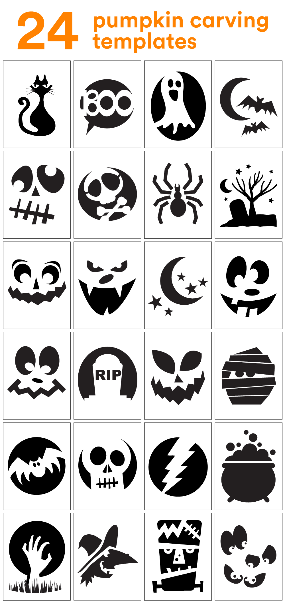 How To Carve The Coolest Pumpkin On The Block (Carving Stencils - Pumpkin Cutouts Printable Free