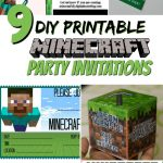 How To Host A (Cheap!) Minecraft Birthday Party (With Printables   Free Printable Minecraft Invitations
