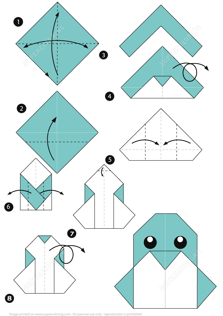How To Make An Origami Penguin Instructions | Free Printable - Printable Origami Instructions Free