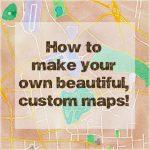 How To Make Beautiful Custom Maps To Print, Use For Wedding Or Event   Free Printable Custom Maps