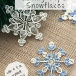 How To Make Quilling Paper Snowflakes | Paper | Paper Quilling   Free Printable Quilling Patterns Designs
