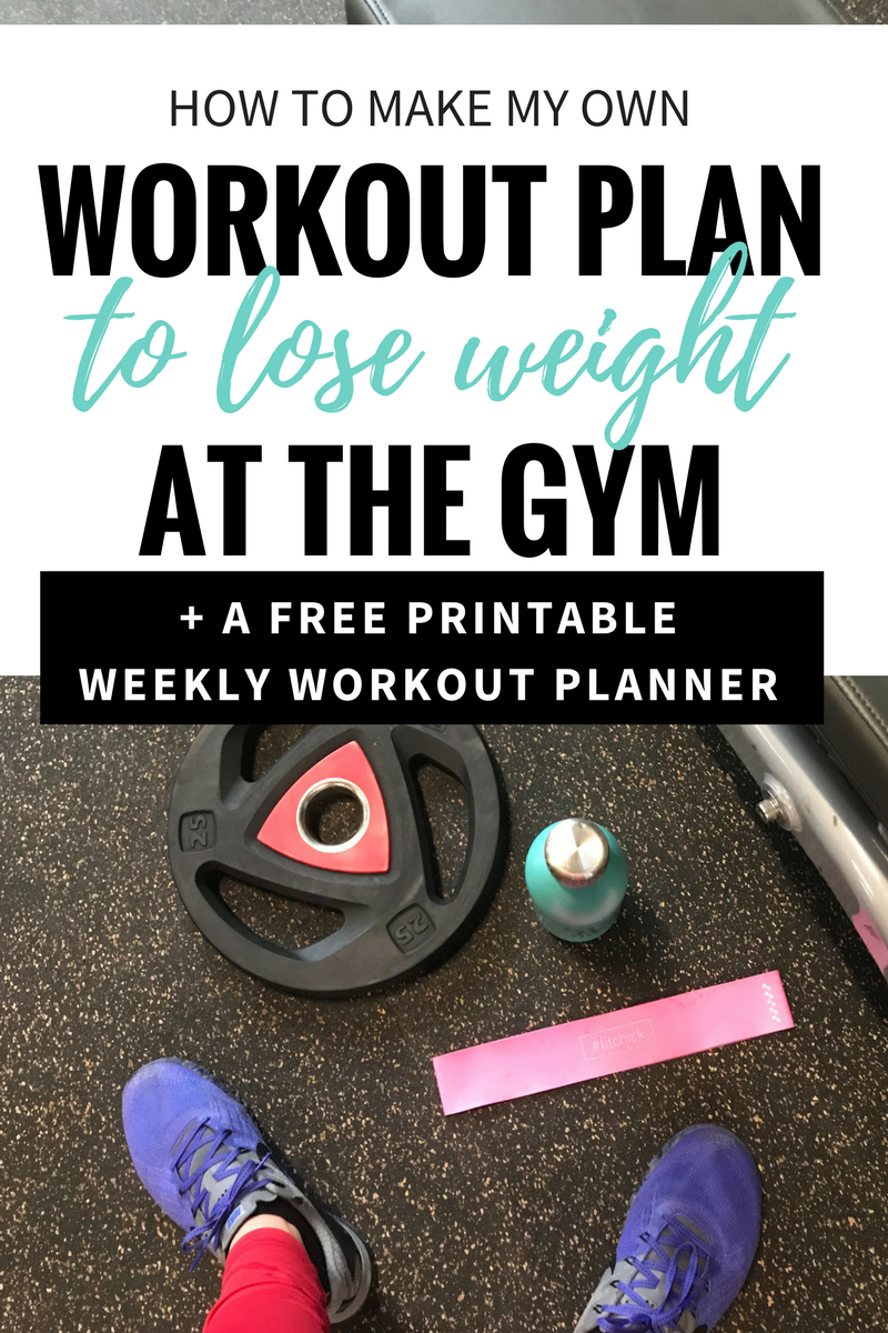 How To Make Your Own Workout Plan [Printable] — The Mermaid With - Free Printable Gym Workout Plans