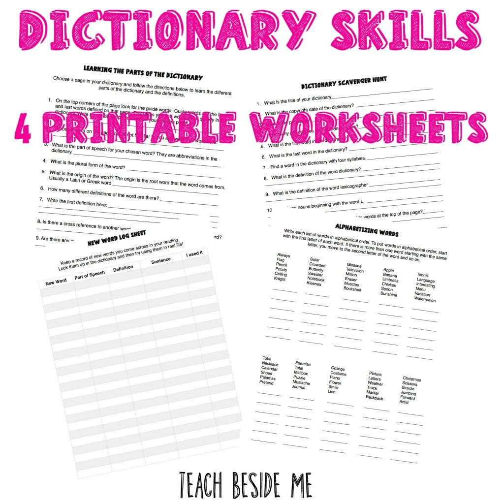 How To Teach Dictionary Skills To Kids – Teach Beside Me - My Spelling Dictionary Printable Free