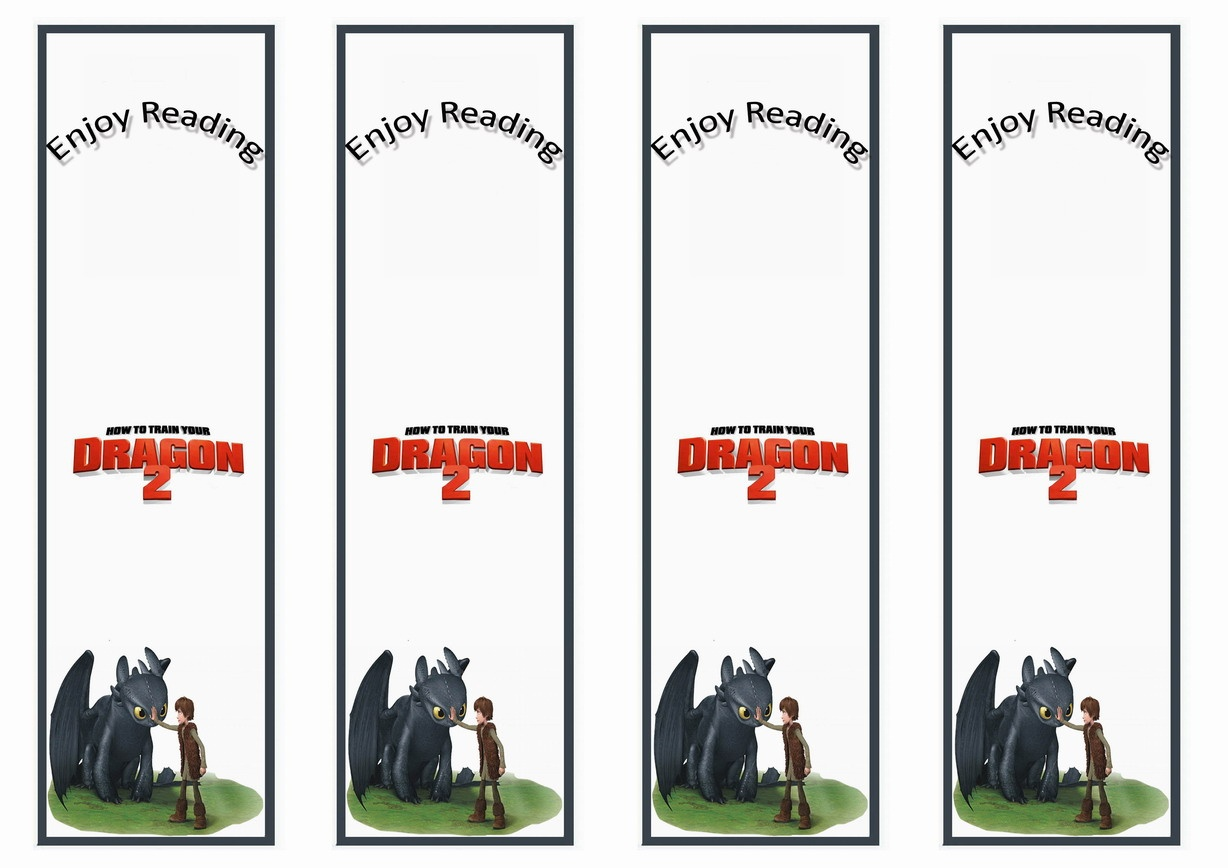 How To Train Your Dragon Bookmarks | Birthday Printable - Free Printable Dragon Bookmarks